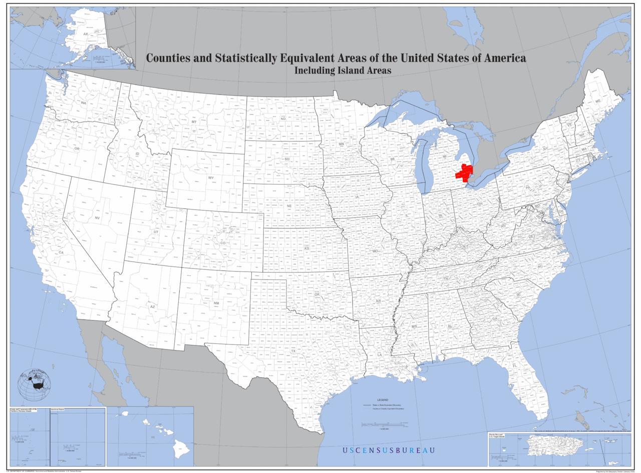 Detroit Location Map Detroit Location On Map Michigan USA - Michigan location in usa