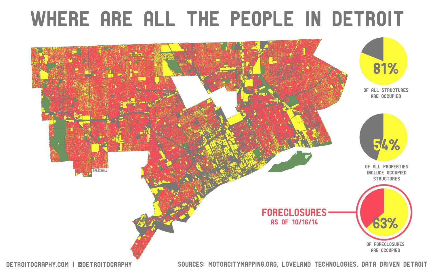 Detroit Population Density Map Detroit Population Map Michigan Usa