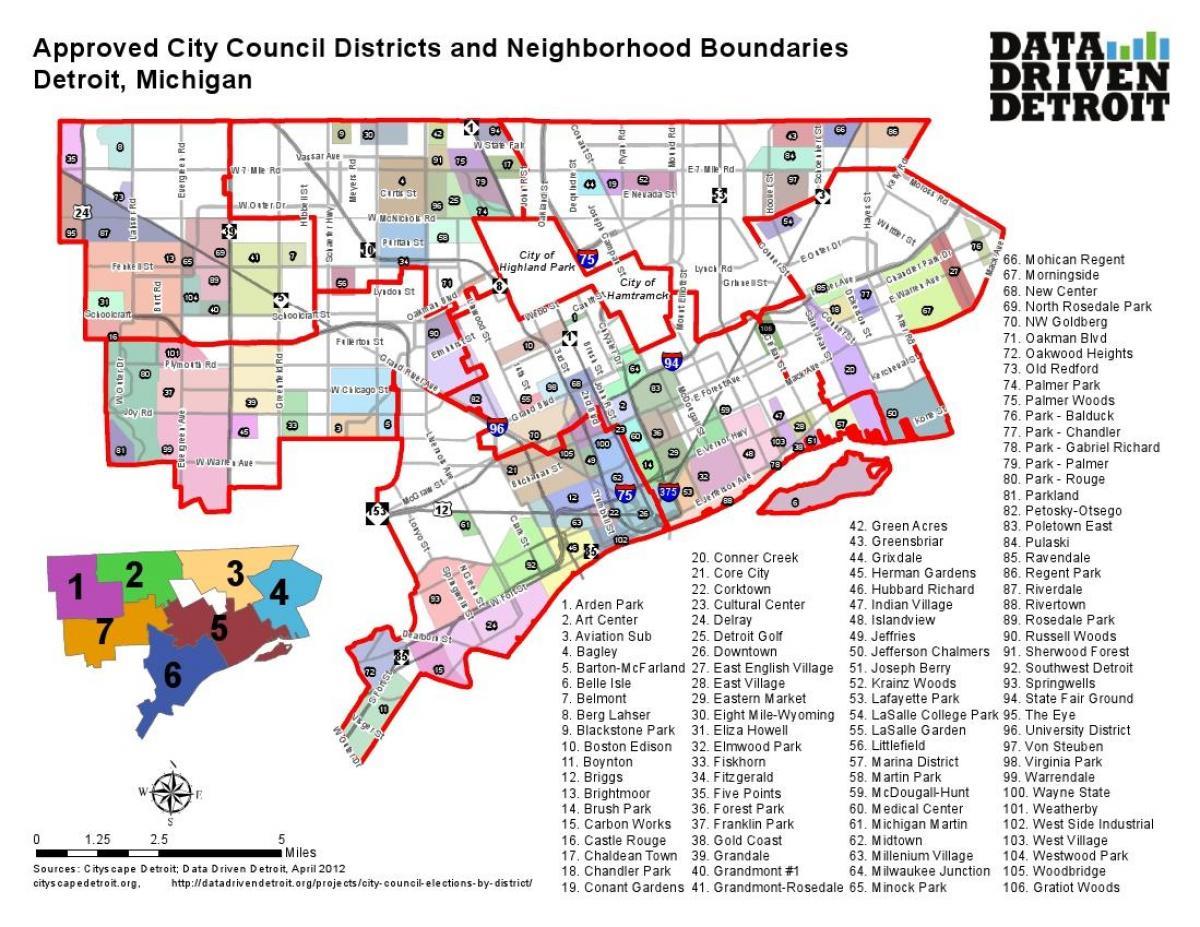 Detroit district map - District Detroit map (Michigan - USA) on detroit area, baltimore map usa, detroit on us map, detroit state map, detroit suburbs map, pittsburgh map usa, city street maps usa, michigan usa, detroit on world map, minneapolis map usa, milwaukee map usa, detroit city map,