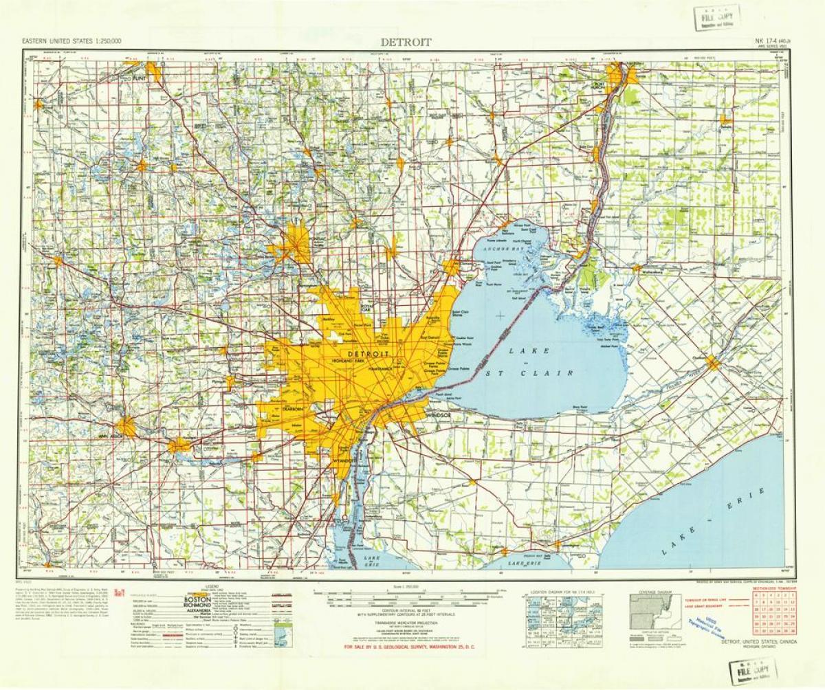 Detroit Map USA Detroit USA Map Michigan USA - Detroit usa map