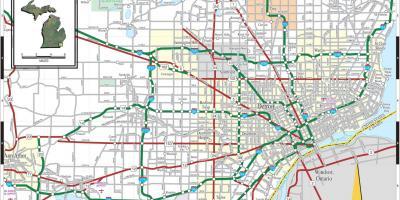 Detroit map - Maps Detroit (Michigan - USA)